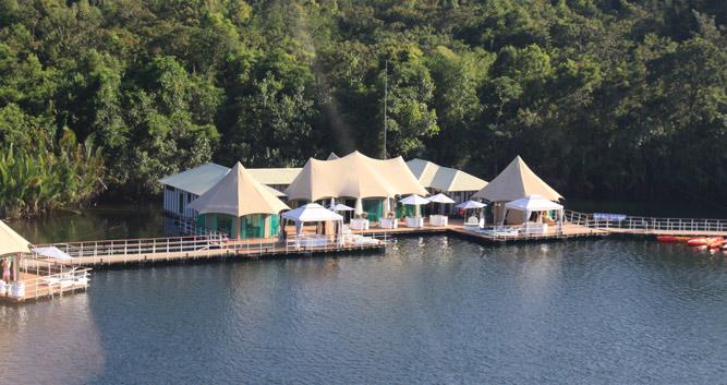 Reception and dining tent, 4 rivers ecolodge, Koh Kong Cambodia