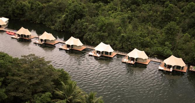 Floating tents, 4 rivers ecolodge, Koh Kong, Cambodia