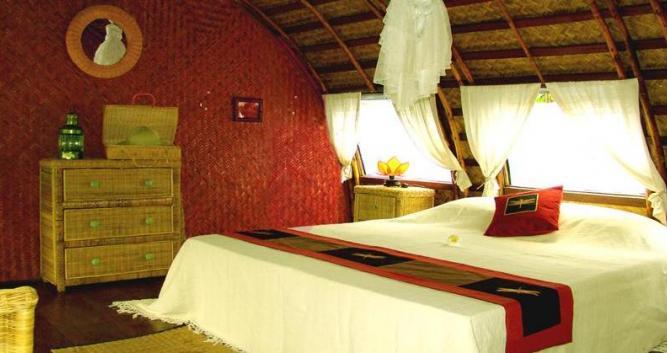 Bedroom, Song Xanh Sampan, Mekong Delta, Vietnam