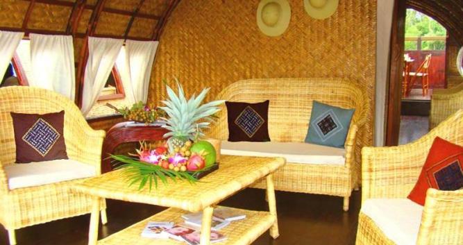Lounge area, Song Xanh Sampan, Mekong Delta, Vietnam