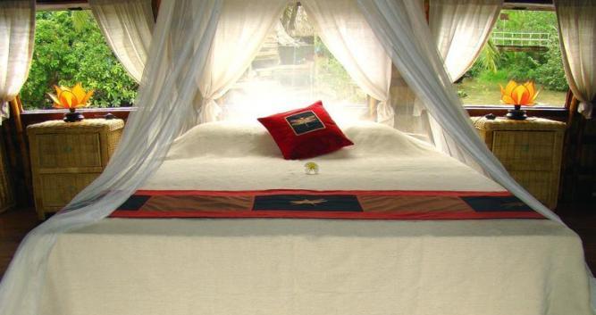 Guest room, Song Xanh Sampan, Mekong Delta, Vietnam