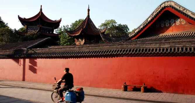 Red-Temple-Wall-Chengdu-China