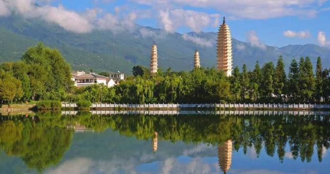 The Three Pagodas, Dali, Yunnan, China