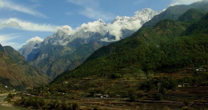 Snow covered mountains, Dali, Yunnan, China