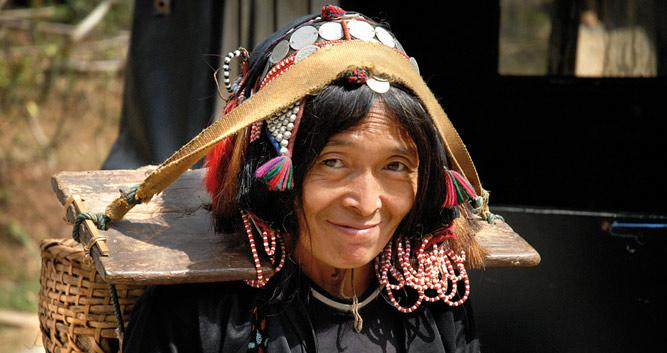 Akha hill tribe womna, Northern Laos