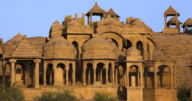 Bada Bagh Cenotaph, Jaisalmer, India