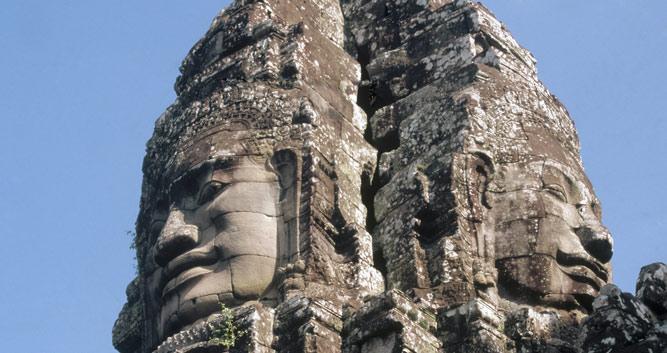 Bayon faces, Angkor temple complex, Siem Reap, Cambodia