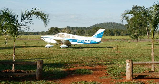 A small plane in Bonito, Brazil