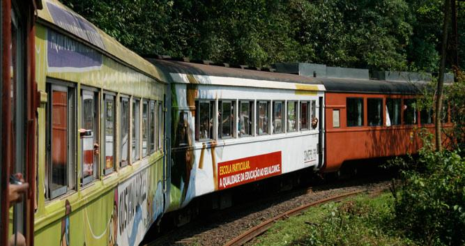 The coulourful Serra Verde Express, Brazil