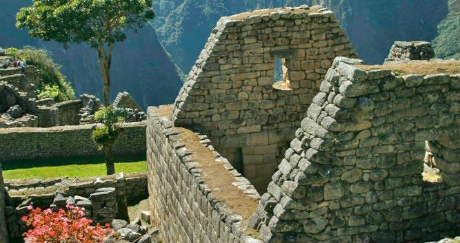 ruin building at Machu Picchu, Peru