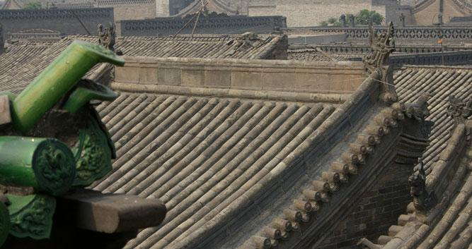 Roof tops in Pingyao in China Luxury Travel