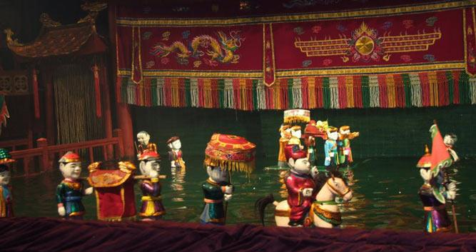 Water puppet performance, Hanoi, Vietnam