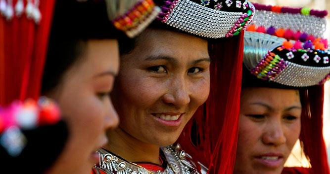 Hill Tribe Girls, Northern Thailand, Southeast Asia