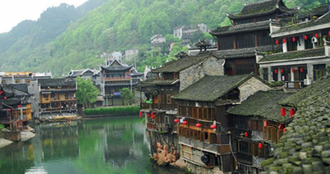 local village, Huangshizhai, China