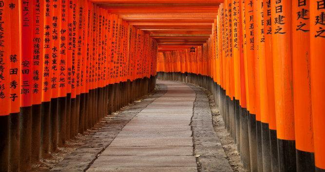Fushimi Inari Taisha Shrine in Kyoto-Japan