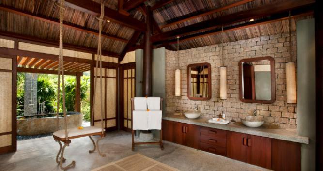 Lagoon viilla bathroom, An Lam Villas, Ninh Van Bay, Nha Trang
