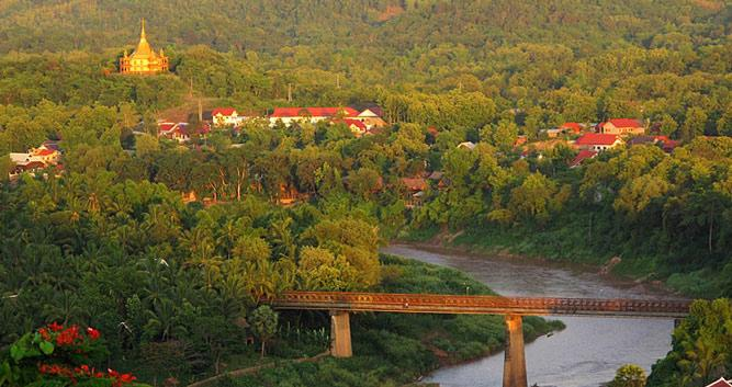 City and river view, Luang Prabang, Laos