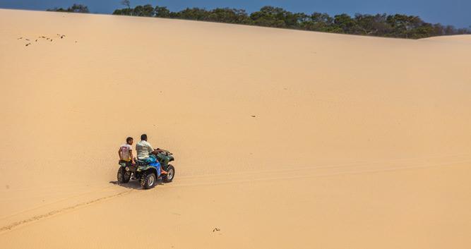 A buggy ride across Lencois Maranhenses, Brazil