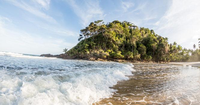 Pounding surf around Itacare, Brazil