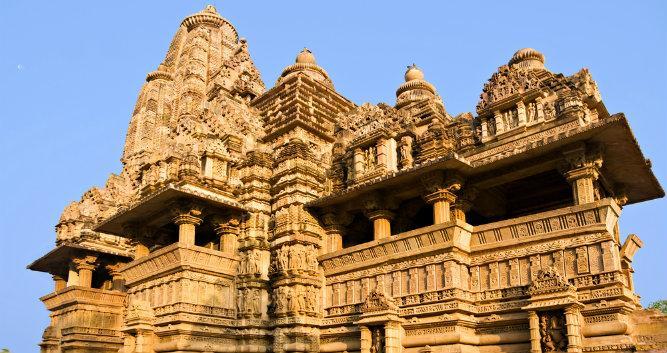 Old erotic temple, Khajuraho, India