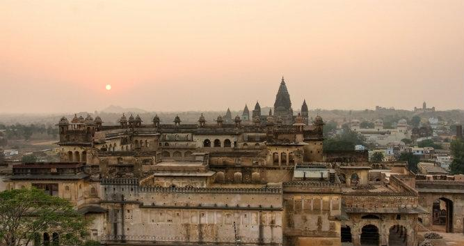 Palace in Orchha, Madhya Pradesh, India