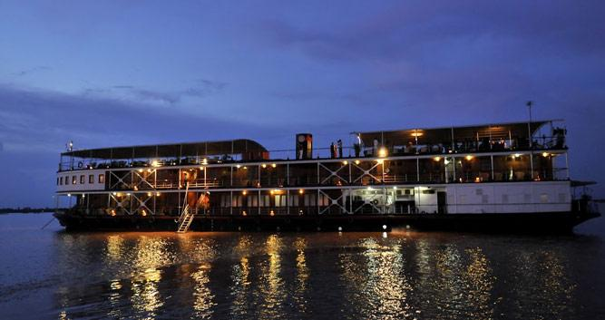 Mekong Pandaw cruise at night, Vietnam