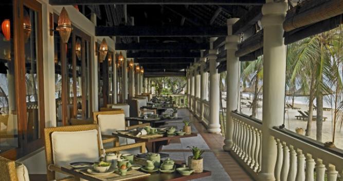 Pavillion restaurant terrace, Evason Ana Mandara, Vietnam