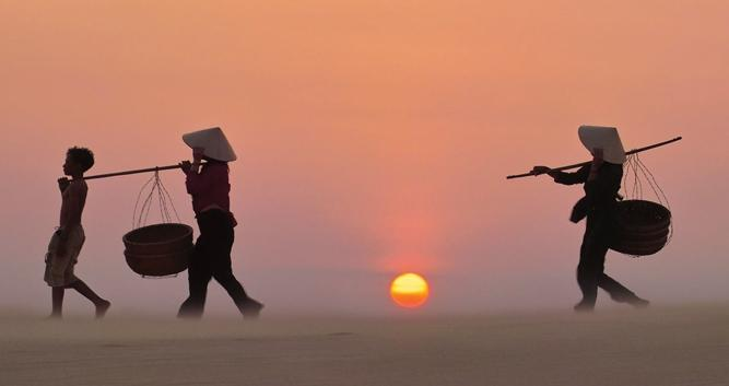 Sand dunes at sunset, Phan Thiet, Vietnam