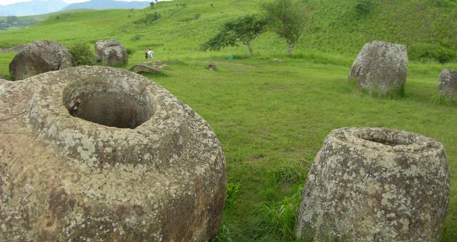 Site 2 of the plain of jars, Phonsavan, Laos