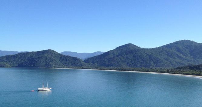 Island hopping along the Green Coast, Paraty, Brazil