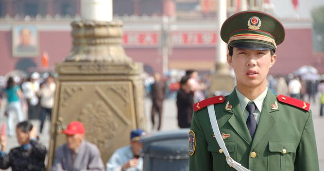 Red Square Guard, Beijing, in Luxury China Travel