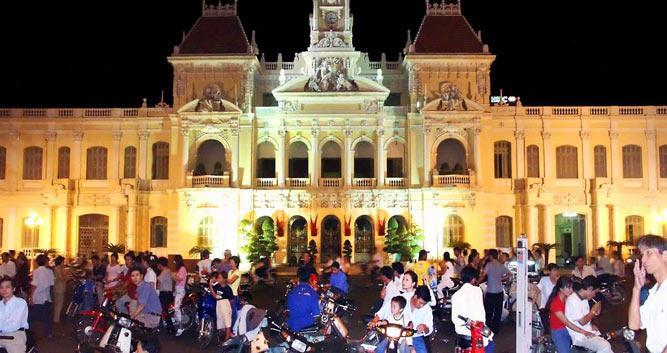 Saigon at night, Vietnam