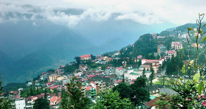 City view of Sapa, Vietnam