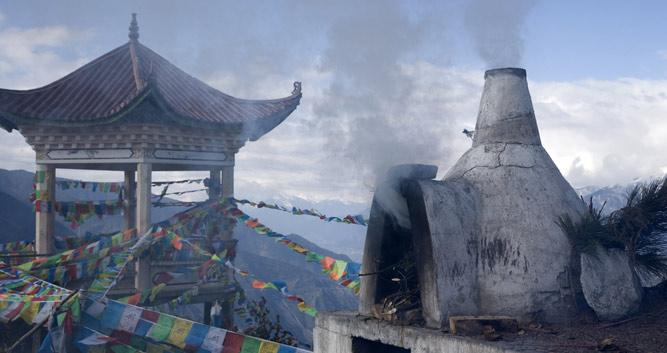 tibetan prayer flags, Yunnan, China