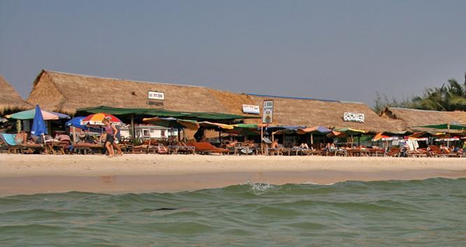 Beach restaurant, Sihanoukville, Cambodia