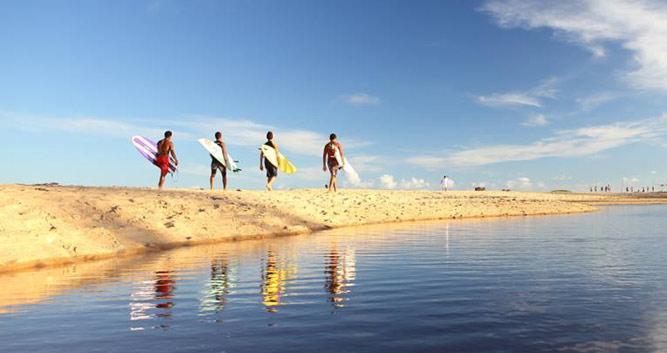Surf's up, Trancoso, Brazil