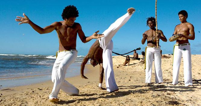 Capoeira on the beach, Trancoso, Brazil