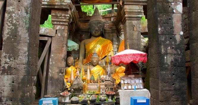 Temple at Wat Phou, Champasak province, Laos