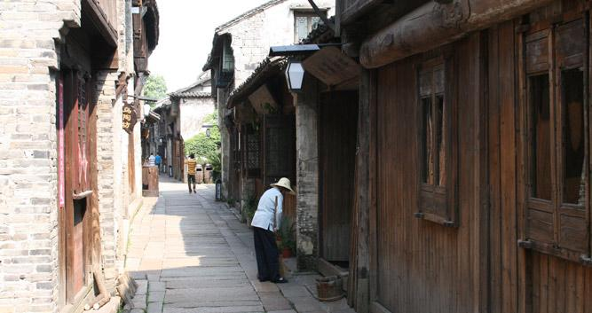 Wuzhen old lady near Hangzhou, China in Luxury China Travel