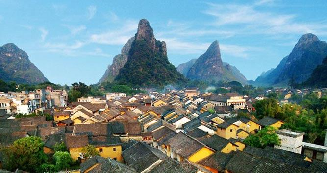 Yangshuo village, near Guilin in Luxury Travel China