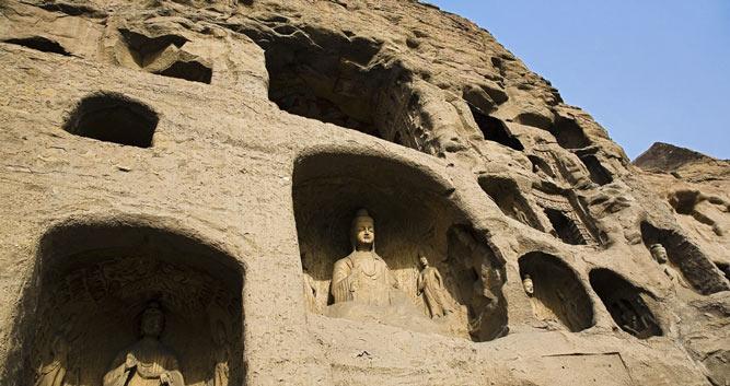 exterior-Yungang-Grottoes-Caves-Datong-Shanxi-Province-China