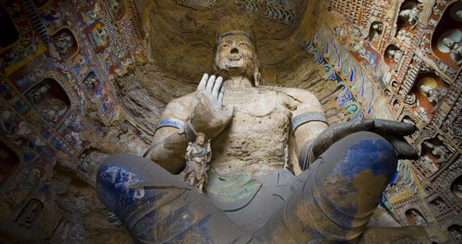 interior-Yungang-Grottoes-Caves-Datong-Shanxi-Province-China