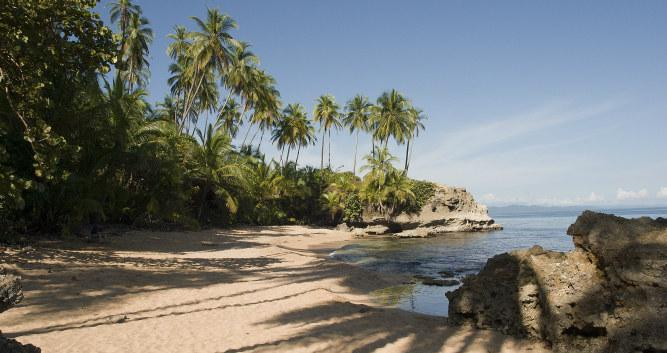 Palm-fringed beaches, Puerto Viejo, Costa Rica
