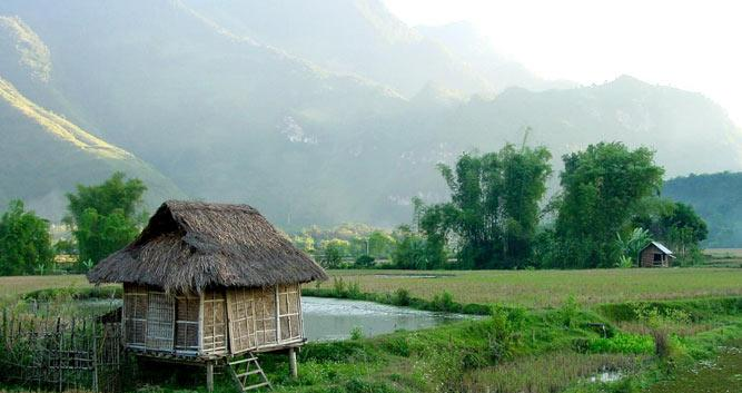 Mai Chau valley scenery, Mai Chau, Vietnam