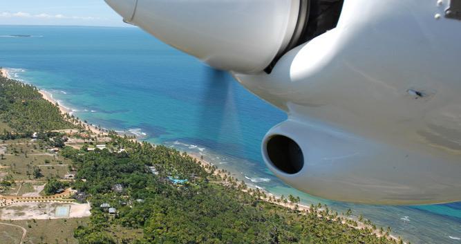 The Marau Peninsula from above, Brazil