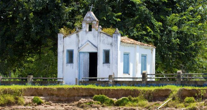 A small chapel in the Pantanal, Brazil