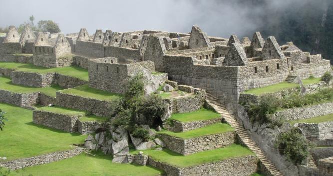 Machu Picchu in could, Peru, South America