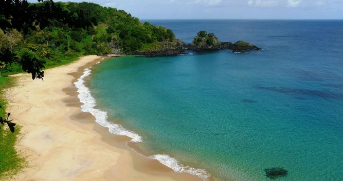 Golden beaches, Fernando de Noronha, Brazil