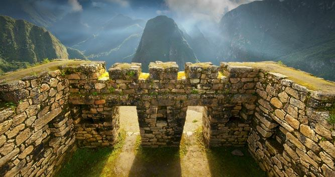 gate shot to Machu Picchu - Peru