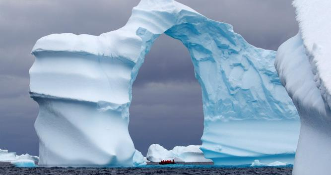 Ice hole, Antarctica